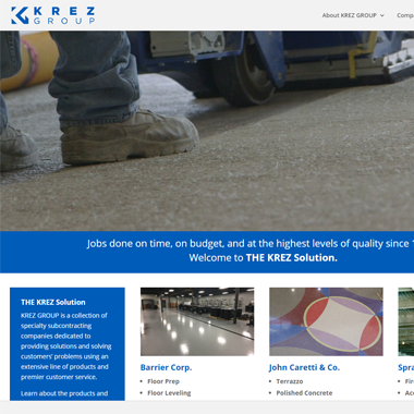 KREZ Group Website Design